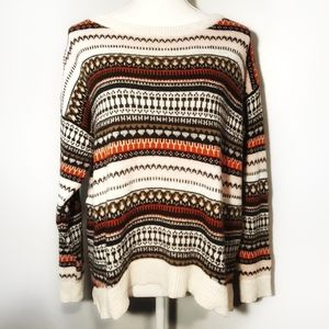 H&M L.O.G.G Oversized Striped Long Sleeve Sweater